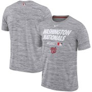 Wholesale Cheap Washington Nationals Nike Authentic Collection Velocity Team Issue Performance T-Shirt Gray