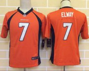 Wholesale Cheap Nike Broncos #7 John Elway Orange Team Color Youth Stitched NFL New Elite Jersey