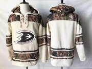 Wholesale Cheap Ducks Blank Cream Camo NHL Hoodie