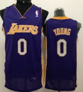 Wholesale Cheap Los Angeles Lakers #0 Nick Young Purple Swingman Jersey