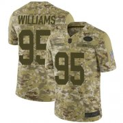 Wholesale Cheap Nike Jets #95 Quinnen Williams Camo Men's Stitched NFL Limited 2018 Salute To Service Jersey