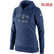 Wholesale Cheap Women's Nike San Diego Chargers Heart & Soul Pullover Hoodie Dark Blue