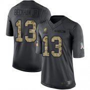 Wholesale Cheap Nike Browns #13 Odell Beckham Jr Black Men's Stitched NFL Limited 2016 Salute to Service Jersey