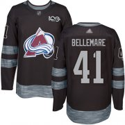 Wholesale Cheap Adidas Avalanche #41 Pierre-Edouard Bellemare Black 1917-2017 100th Anniversary Stitched NHL Jersey