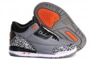 Wholesale Cheap Air Jordan 3 (III) Kids Shoes gray/black cement-white-orange