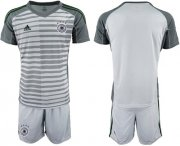 Wholesale Cheap Germany Blank Grey Goalkeeper Soccer Country Jersey
