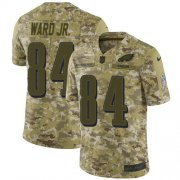Wholesale Cheap Nike Eagles #84 Greg Ward Jr. Camo Men's Stitched NFL Limited 2018 Salute To Service Jersey