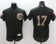 Wholesale Cheap Cubs #17 Kris Bryant Green Flexbase Authentic Collection Salute to Service Stitched MLB Jersey