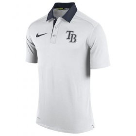 Wholesale Cheap Men\'s Tampa Bay Rays Nike White Authentic Collection Dri-FIT Elite Polo