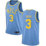 Cheap Lakers #3 Anthony Davis Royal Blue Youth Basketball Swingman Hardwood Classics Jersey