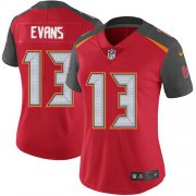 Wholesale Cheap Nike Buccaneers #13 Mike Evans Red Team Color Women's Stitched NFL Vapor Untouchable Limited Jersey
