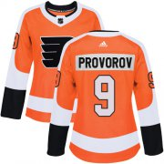 Wholesale Cheap Adidas Flyers #9 Ivan Provorov Orange Home Authentic Women's Stitched NHL Jersey