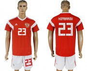 Wholesale Cheap Russia #23 Kombarov Home Soccer Country Jersey