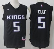 Wholesale Cheap Men's Sacramento Kings #5 De'Aaron Fox Black Fashion Stitched NBA adidas Revolution 30 Swingman Jersey