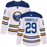 Wholesale Cheap Adidas Sabres #29 Jason Pominville White Authentic 2018 Winter Classic Women's Stitched NHL Jersey