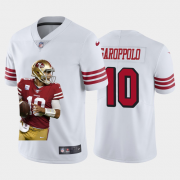 Cheap San Francisco 49ers #10 Jimmy Garoppolo Nike Team Hero 3 Rush Vapor Limited NFL Jersey White
