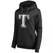 Wholesale Cheap Women's Texas Rangers Platinum Collection Pullover Hoodie Black