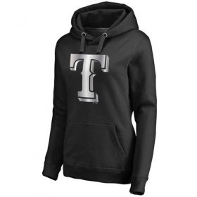 Wholesale Cheap Women\'s Texas Rangers Platinum Collection Pullover Hoodie Black