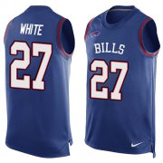 Wholesale Cheap Nike Bills #27 Tre'Davious White Royal Blue Team Color Men's Stitched NFL Limited Tank Top Jersey