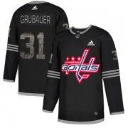 Wholesale Cheap Adidas Capitals #31 Philipp Grubauer Black Authentic Classic Stitched NHL Jersey