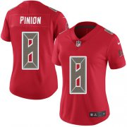 Wholesale Cheap Nike Buccaneers #8 Bradley Pinion Red Women's Stitched NFL Limited Rush Jersey