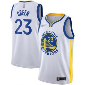 Wholesale Cheap Warriors #23 Draymond Green White Basketball Swingman Association Edition 2019-2020 Jersey