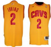 Wholesale Cheap Cleveland Cavaliers #2 Kyrie Irving Revolution 30 Swingman Yellow Jersey