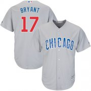 Wholesale Cheap Cubs #17 Kris Bryant Grey Road Stitched Youth MLB Jersey