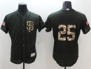 Wholesale Giants #25 Barry Bonds Green Flexbase Authentic Collection Salute to Service Stitched Baseball Jersey