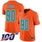 Wholesale Cheap Nike Dolphins #90 Shaq Lawson Orange Men's Stitched NFL Limited Inverted Legend 100th Season Jersey