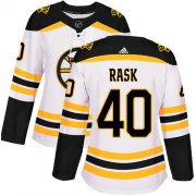 Wholesale Cheap Adidas Bruins #40 Tuukka Rask White Road Authentic Women's Stitched NHL Jersey