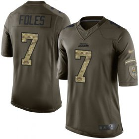 Wholesale Cheap Nike Jaguars #7 Nick Foles Green Men\'s Stitched NFL Limited 2015 Salute to Service Jersey