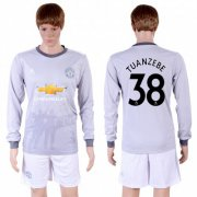 Wholesale Cheap Manchester United #38 Tuanzebe Sec Away Long Sleeves Soccer Club Jersey