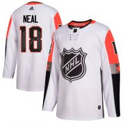 Wholesale Cheap Adidas Golden Knights #18 James Neal White 2018 All-Star Pacific Division Authentic Stitched NHL Jersey