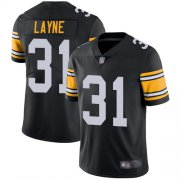 Wholesale Cheap Nike Steelers #31 Justin Layne Black Alternate Men's Stitched NFL Vapor Untouchable Limited Jersey