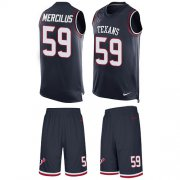 Wholesale Cheap Nike Texans #59 Whitney Mercilus Navy Blue Team Color Men's Stitched NFL Limited Tank Top Suit Jersey