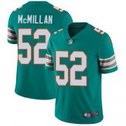 Wholesale Cheap Nike Dolphins #52 Raekwon McMillan Aqua Green Alternate Youth Stitched NFL Vapor Untouchable Limited Jersey