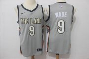 Wholesale Cheap Nike Cavaliers #9 Dwyane Wade Gray Nike City Edition Swingman Jersey