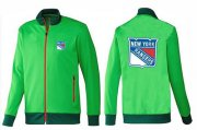 Wholesale Cheap NHL New York Rangers Zip Jackets Green
