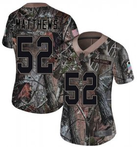 Wholesale Cheap Nike Rams #52 Clay Matthews Camo Women\'s Stitched NFL Limited Rush Realtree Jersey