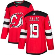 Wholesale Cheap Adidas Devils #19 Travis Zajac Red Home Authentic Stitched NHL Jersey