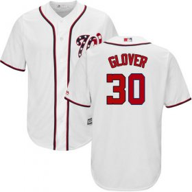 Wholesale Cheap Nationals #30 Koda Glover White New Cool Base Stitched Youth MLB Jersey