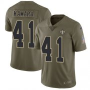 Wholesale Cheap Nike Saints #41 Alvin Kamara Olive Youth Stitched NFL Limited 2017 Salute to Service Jersey