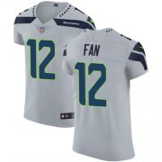 Wholesale Cheap Nike Seahawks #12 Fan Grey Alternate Men's Stitched NFL Vapor Untouchable Elite Jersey