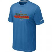 Wholesale Cheap Men's Nike San Francisco 49ers 2012 NFC Conference Champions Trophy Collection Long T-Shirt Light Blue