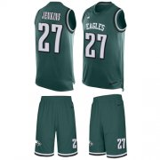 Wholesale Cheap Nike Eagles #27 Malcolm Jenkins Midnight Green Team Color Men's Stitched NFL Limited Tank Top Suit Jersey