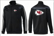 Wholesale NFL Kansas City Chiefs Team Logo Jacket Black_3