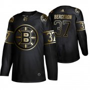 Wholesale Cheap Adidas Bruins #37 Patrice Bergeron Men's 2019 Black Golden Edition Authentic Stitched NHL Jersey