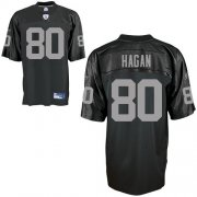 Wholesale Cheap Raiders #80 Derek Hagan Black Stitched NFL Jersey