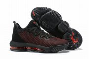Wholesale Cheap Nike Lebron James 16 Air Cushion Low Shoes Black Red